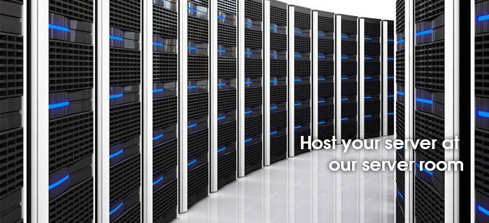 Host your server at our server room